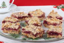 Free Platter Of Cranberry Bars Stock Photos - 27438583
