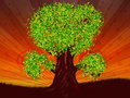 Free Fantasy Tree Of Green Color Royalty Free Stock Image - 27440936