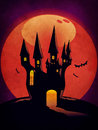 Free Halloween Castle Grunge Background Royalty Free Stock Photography - 27441257