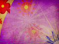 Free Purple Background With Abstract Flowers Royalty Free Stock Images - 27441479