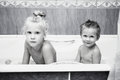 Free Young Children In Bathroom Royalty Free Stock Photography - 27442287