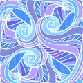 Free Blue Abstract Hand-drawn Pattern Royalty Free Stock Images - 27448529