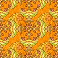 Free Orange Seamless Abstract Hand-drawn Pattern Stock Image - 27448531
