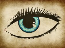 Free Blue Woman Eye Royalty Free Stock Photography - 27440777