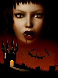 Free Castle Of Vampire Royalty Free Stock Photo - 27440805