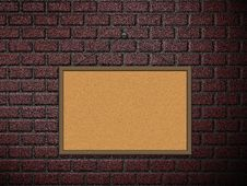 Free Cork Board On Brick Wall Royalty Free Stock Photos - 27440858