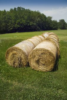 Free Bales Of Hay Royalty Free Stock Images - 27441009