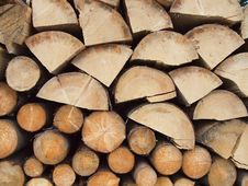 Free Stacked Firewood Royalty Free Stock Photos - 27441178