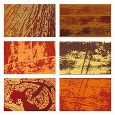Wood Textures Set Stock Photos