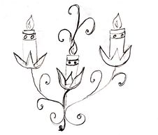 Hand Drawn Candle Royalty Free Stock Photos