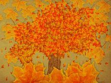 Paper With Autumn Tree Stock Photos