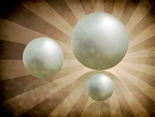 Free White Pearls On Textured Background Stock Photography - 27441712