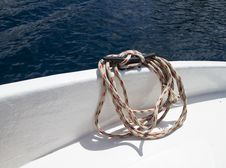 Free Rope On The Deck Stock Photo - 27441810