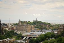 Free Edinburgh Panorama Royalty Free Stock Image - 27444086
