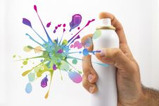 Free Spraying With Paint Stock Photo - 27445440