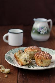 Muffins With Apple And Marzipan Royalty Free Stock Photo