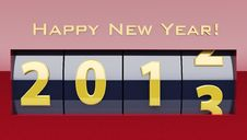 Happy New Year Counter Royalty Free Stock Images