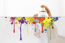 Free Spraying With Paint Royalty Free Stock Photography - 27446037
