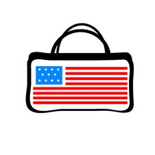 Free Colorful Women Bag With American Flag Royalty Free Stock Photo - 27446225
