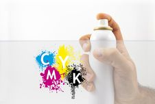 Free Spraying With Paint Royalty Free Stock Photo - 27446365