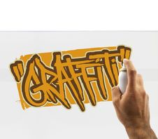 Free Graffiti Artist At Work Stock Photography - 27447082