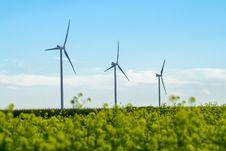 Free Three Wind Turbines Stock Images - 27447294