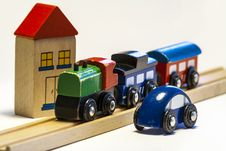 Free Wooden Toy Train Royalty Free Stock Image - 27447336
