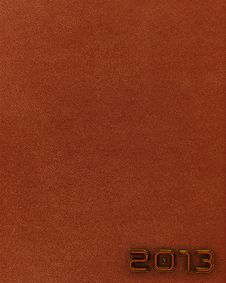 Free Leather New Year 2013 Background. Brown. Royalty Free Stock Images - 27447539