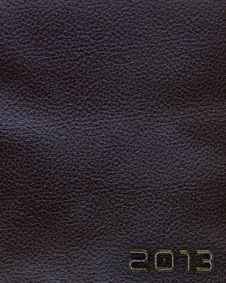 Free Leather New Year 2013 Background. Black. Royalty Free Stock Images - 27447549