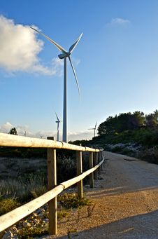 Wind Energy Park Royalty Free Stock Photos