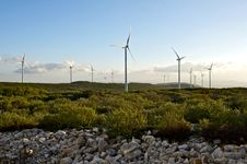 Free Wind Energy Park Stock Photography - 27448182