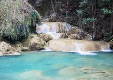 Free Erawan Waterfall, Level 7  Thailand Stock Images - 27449744