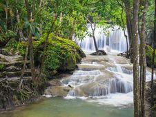 Free Erawan Waterfall, Kanchanaburi, Thailand Royalty Free Stock Photo - 27449745