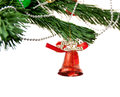 Free Christmas Bell And  On The Branch Of A Tree Stock Photos - 27455253