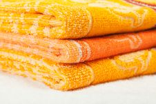 Free Orange And Yellow Towels Stock Image - 27451231