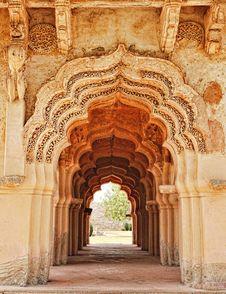 Free Arches Of Lotus Mahal, Hampi, Karnataka, India Stock Photography - 27452402