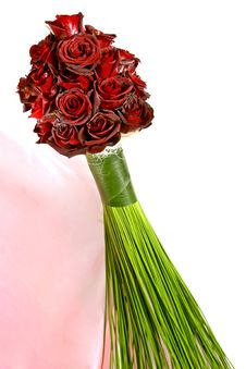 Red Roses Bouquet &x28;Black Magic Roses&x29; Stock Images