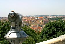 Free Lisbon View With A Binocular Stock Images - 27455474