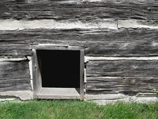 Free Basement Window In Old Log Building. Royalty Free Stock Photo - 27455945