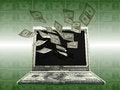 Free Labtop Money Stock Image - 27461311