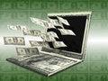 Free Labtop Money Royalty Free Stock Photo - 27461335
