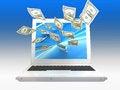 Free Labtop Money Royalty Free Stock Image - 27461366