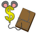 Free Money In Mouse Trap Stock Photos - 27464803
