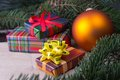 Free Christmas Decoration With Gifts Stock Photos - 27464813