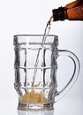 Free Beer Pouring Into Beer Mug Isolated Stock Photos - 27469063