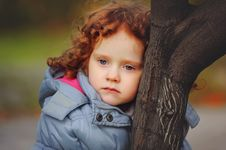 Free Little Curly Girls The Park Stock Photos - 27461543
