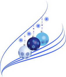 Free Christmas Balls With A Pattern Of Snowflakes Stock Photos - 27461733