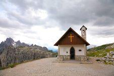 Free Mountain Church Dolomities, Dolomiti - Italy Royalty Free Stock Image - 27461806