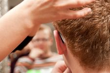 Man In A Hairdressing Salon Stock Images