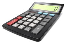 Free Black Calculator. Royalty Free Stock Image - 27462826